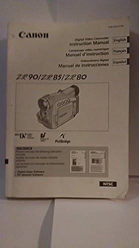 canon digital video camcorder instruction manual zr90 zr85 zr80 rh amazon com Canon NTSC ZR80 Canon Camcorders