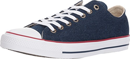 Converse - Adult Low Chuck Taylor All Star Shoes, Size: 5 D(M) US Mens / 7 B(M) US Womens, Color: Dark Blue/Natural Ivory/White