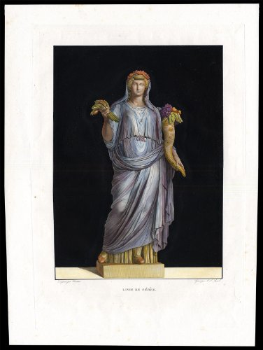 Antique Print-MYTHOLOGY-CERES-CORNUCOPIA-CORONA SPICEA-Vautier-Avril-c. 1810