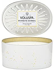 Voluspa Branche Vermeil 2 Wick Candle In Decor Oval Tin 12.7 oz