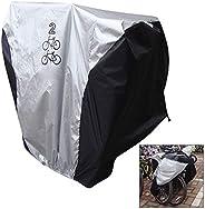 iwobi Bike Cover for 2 Bikes, Waterproof Bike Cover Rain and Dust Resistant UV Protection