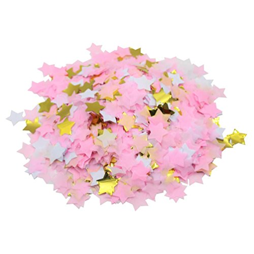 (Mybbshower Pink and Gold Twinkle Twinkle Little Star Table Scatter for Girls First Birthday Party 1.5 oz)