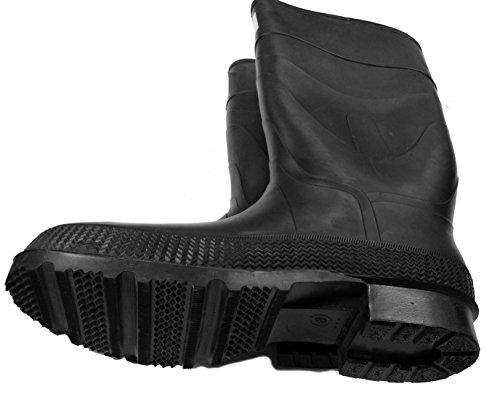 Herco 16'' Black Rubber Steel Toe Rain Work Boots - Men's Size 11 by Unknown (Image #1)