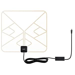 ac home wiring antenna digital amazon.com: aukey hdtv antenna, amplified indoor digital tv antenna with power adapter and 9.8ft ...