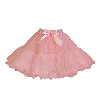 9ef8a9c94 Girls Kids Pink & Cream Full Fairy Princess Tutu Skirt for Fancy Dress or  Dance 3-6 Years: Travis: Amazon.co.uk: Toys & Games
