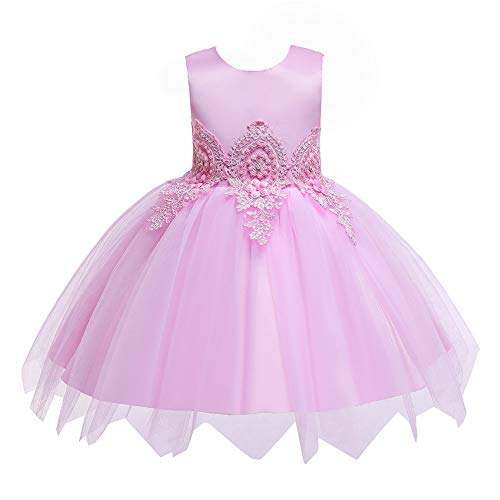 Party Girl Dress Store (HUAANIUE Baby Toddler Girls Wedding Pageant Dresses Birthday Party Dress Pink 5-6)
