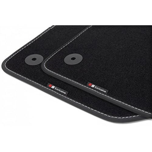 teileplus24 EF200 Tapis de sol haut de gamme avec bordure et coutures décoratives lovely