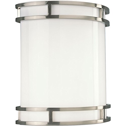 Progress Lighting P7085-0930K9 LED Wall Sconce with Decorative Trim (Lighting Nickel Sconce Progress Brushed)