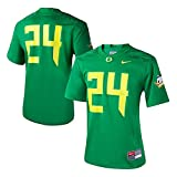 Nike Women's 24 Apple Green Oregon Ducks Game Replica Football Jersey Size Small