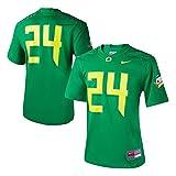 Nike Women's 24 Apple Green Oregon Ducks Game Replica Football Jersey Size Small