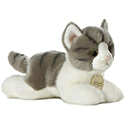 Aurora World Miyoni Grey Tabby Cat Plush, 8""