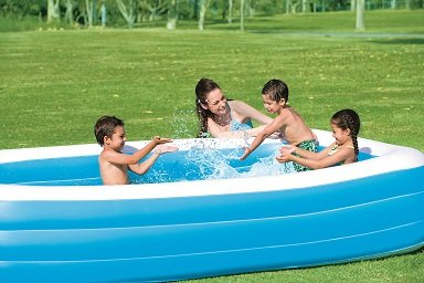 Bestway 54009 Piscina Hinchable Rectangular Deluxe, Blue, 305cm x 183cm x 56cm