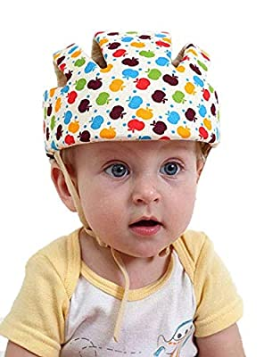 goods111 Baby Infant Protective Hat Toddler Adjustable Lightweight Safety Hat Cap Helmet Children Head Guard Decrease The Damage to The Head 10 Styles
