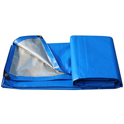 HAIPENG Plane Gewebeplane Holzplane Abdeckplane Schutzplane Verdicken Zelt Wasserdicht, Mehrere Größen, 200G  M² (Farbe   Blau+Silber, größe   3x5m)