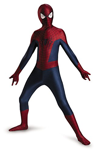 [Disguise Marvel The Amazing Spider-Man 2 Movie Spider-Man Boys Bodysuit Costume, Large/10-12] (Spiderman Bodysuit)