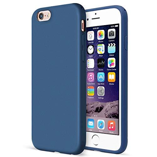 MUNDULEA Matte Case Compatible iPhone 6/6s Flexible TPU Protective Cover Compatible iPhone 6s / iPhone 6 (Blue)