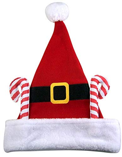 Christmas Candy Cane Santa Hat, 17