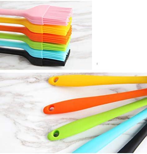 WXLL Integrierte Grillbürste Hochtemperaturbeständige Fusselfreie Gewürzbürste Silikonölbürste Backküche Essbare Kleine Bürste