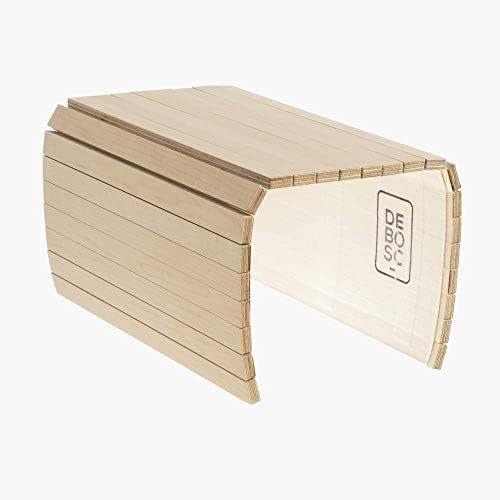 Bandeja adaptable al brazo del sofá, sillón o butaca, proporciona espacio útil para dejar la copa, taza o vaso. Mesa auxiliar de arce