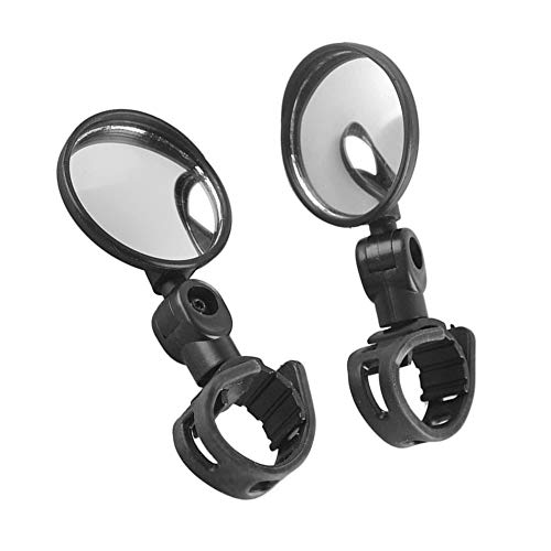 Quiklet Bike Mirrors Adjustable Rotatable Handlebar Bicycle Rear View Mirrors Convex Mirror for Mountain Road Bike Cycling Bicycle(2 Pack)