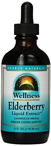 Source Naturals Wellness Elderberry Liquid Extract, Immune System Support, 4 Fluid (Black Elderberry Liquid)