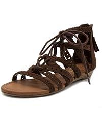 Women's Shelia Gladiator Braided Flat Lace Up Sandal With Tassel