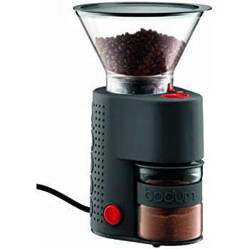 Bodum BISTRO Burr Grinder, Electronic Coffee Grinder with Continuously Adjustable Grind, Black