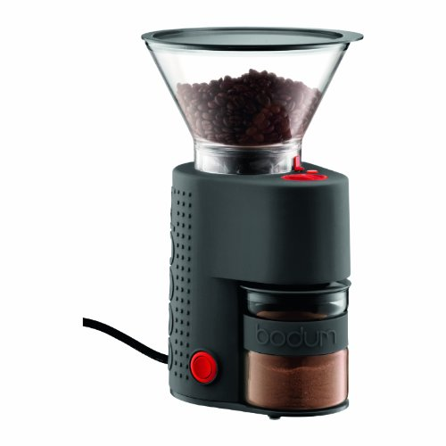 (Bodum Bistro Burr Grinder, Electronic Coffee Grinder with Continuously Adjustable Grind, Black)