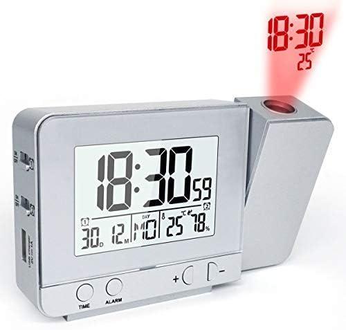NO BRAND Proyección Reloj proyector Reloj proyector de Tiempo del ...