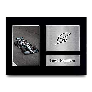 HWC Trading Lewis Hamilton Signed A4 Printed Autograph Mercedes F1