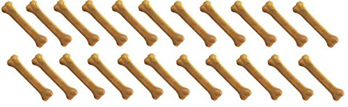 Dog Bones 100 pcs of 4'' Flavored Pressed Rawhide for Tough Chewers Dogs Treats (Hickory Smoked)