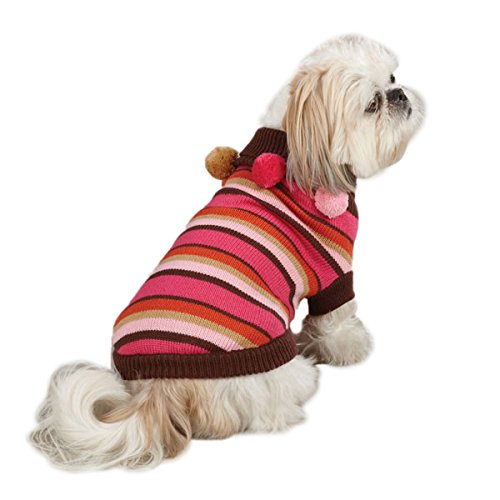 East Side Collection Acrylic Spirit Dog Sweater, Striped, X-Small, 10-Inch