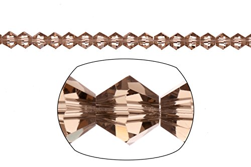 bicone Crystal beads Greige faceted Xilion crystal for Jewelry Making mm 92cnt (Greige Bicone)