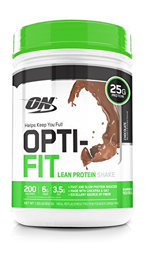 OPTIMUM NUTRITION Opti-Fit Lean Protein Shake, Meal Replacement Powder, Chocolate, 1.83 Pound (Best Rated Meal Replacement Shakes)