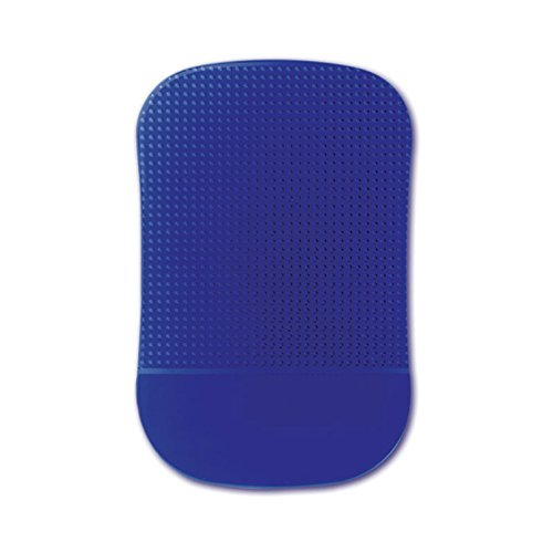Handstands Jelly Sticky Pad Dash Mount- Blue. No sticky adhesives and leaves behind no residue. Removable and reusable. (Jelly Sticky Pad)