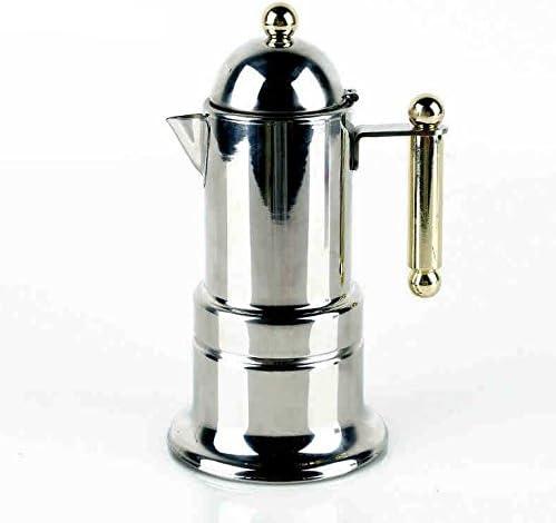 4 tazas/200 ml Acero inoxidable Italiano Express Estufa Espresso ...