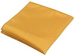Flairs New York Gentleman Essentials Bow Tie and Pocket Square Matching Set (Regular Bow Tie & Pocket Square Set, Golden Yellow [Diamond Shape Print])