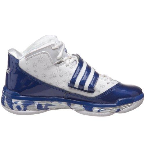 Adidas Womens Ts Ace Commander Scarpa Da Basket Da Corsa Bianca / Collegiale Royal / Argento Metallizzato