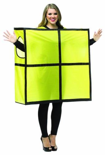 Rasta Imposta Unisex Tetris Tetrimino, Yellow/Black Trim, One Size (Tetris Costume Amazon)