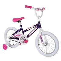 """Dynacraft Magna Starburst Girls BMX Street/Dirt Bike 16"""", Purple/White/Pink"""