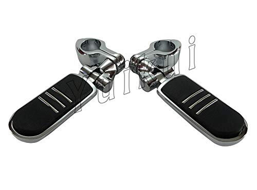 YUIKUI RACING オートバイ汎用 1-1/4インチ/32mmエンジンガードのパイプ径に対応 ハイウェイフットペグ タンデムペグ ステップ SUZUKI S83 BOULEVARD/INTRUDER VS 1400 1995-2008等適用   B07PT3RCR2