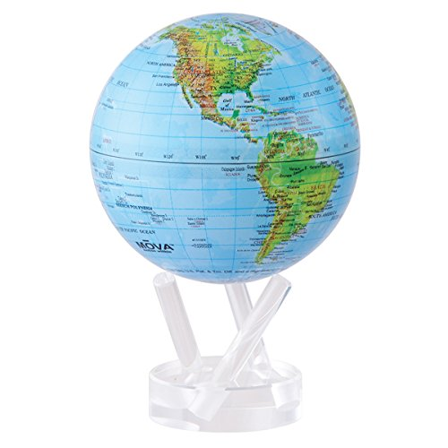 Mova 4.5'' Blue with Relief Map Gloss Finish Globe by Mova (Image #1)