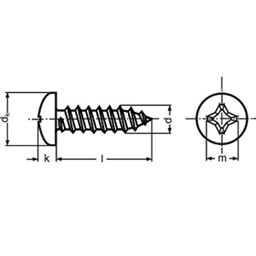 Widex 5279812913DIN 7981Lens Tapping Screw Style for sale  Delivered anywhere in USA
