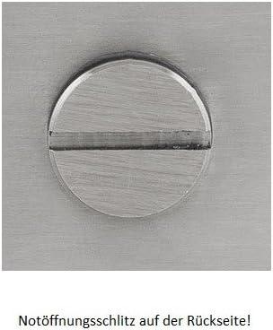 Edelstahl matt Glast/ürschloss SetQ WC mit integriertem Knauf inkl waagerechte Studiobohrung B/änder Hope 2-tlg