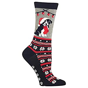Hot Sox Women's Christmas Border Collie Non Skid Socks 2
