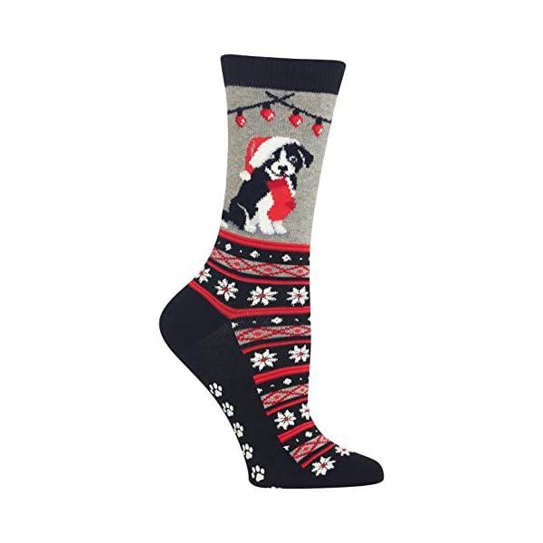 Hot Sox Women's Christmas Border Collie Non Skid Socks 1