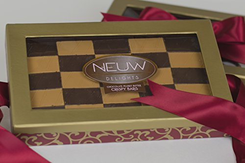 Neuw Delights Kosher Gourmet Chocolate Peanut Butter Chews Gift Baskets (Red Bow)