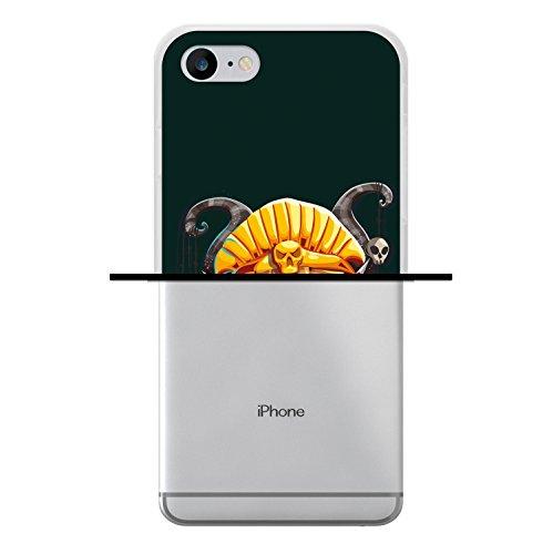 iPhone 8 Hülle, WoowCase Handyhülle Silikon für [ iPhone 8 ] Aztekische Maske Handytasche Handy Cover Case Schutzhülle Flexible TPU - Transparent