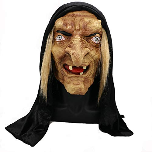 Mokna Santa Maria Old Witch Mask Nun Mask Party Props for Halloween for $<!--$29.99-->