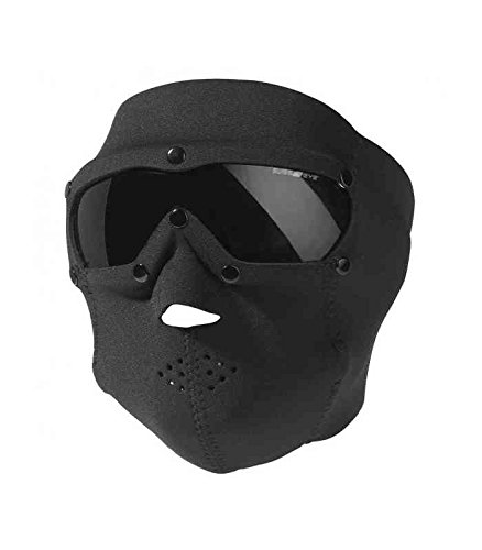(Swiss Eye Neoprene Face Mask with Smoke Lens - Black)